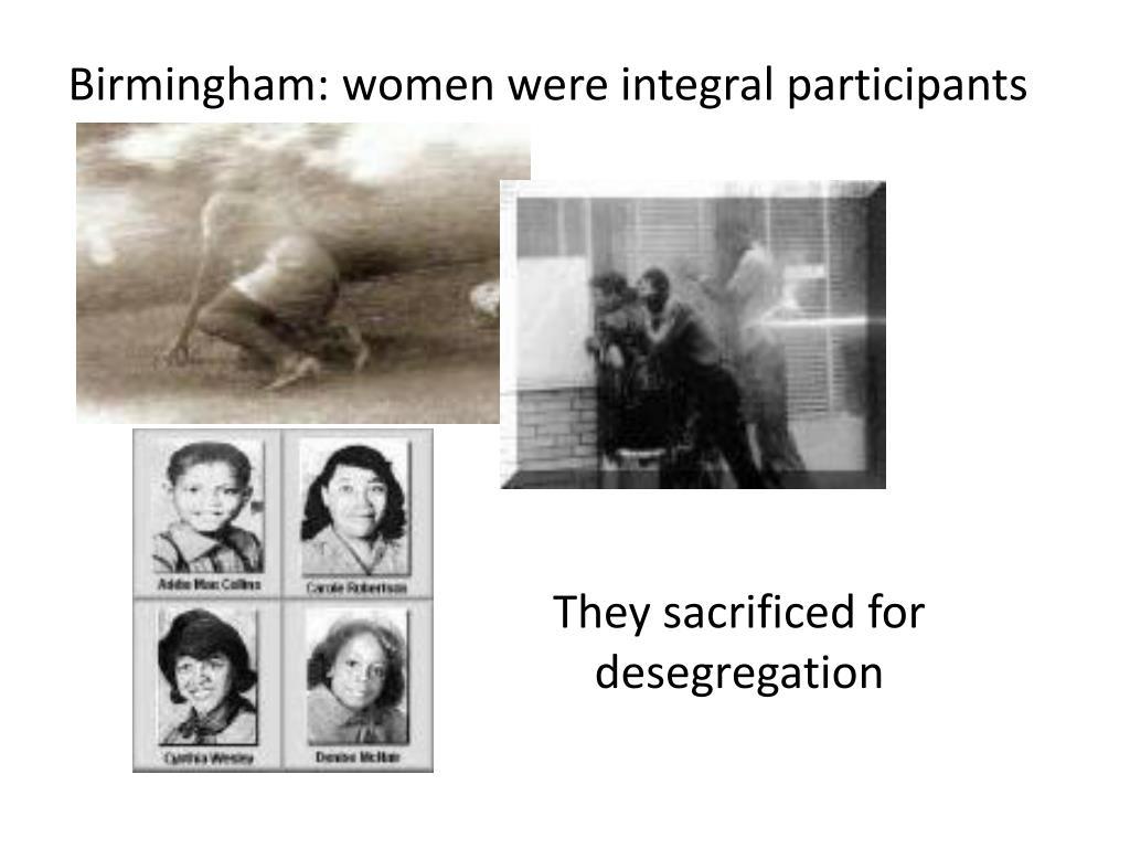 Birmingham: women were integral participants