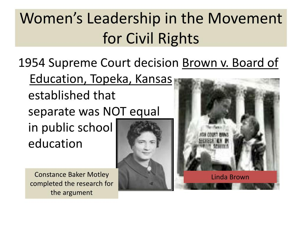 Women's Leadership in the Movement for Civil Rights