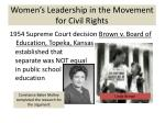 women s leadership in the movement for civil rights