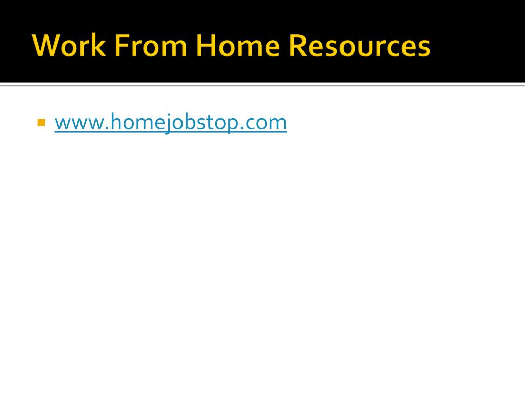 Work From Home Resources