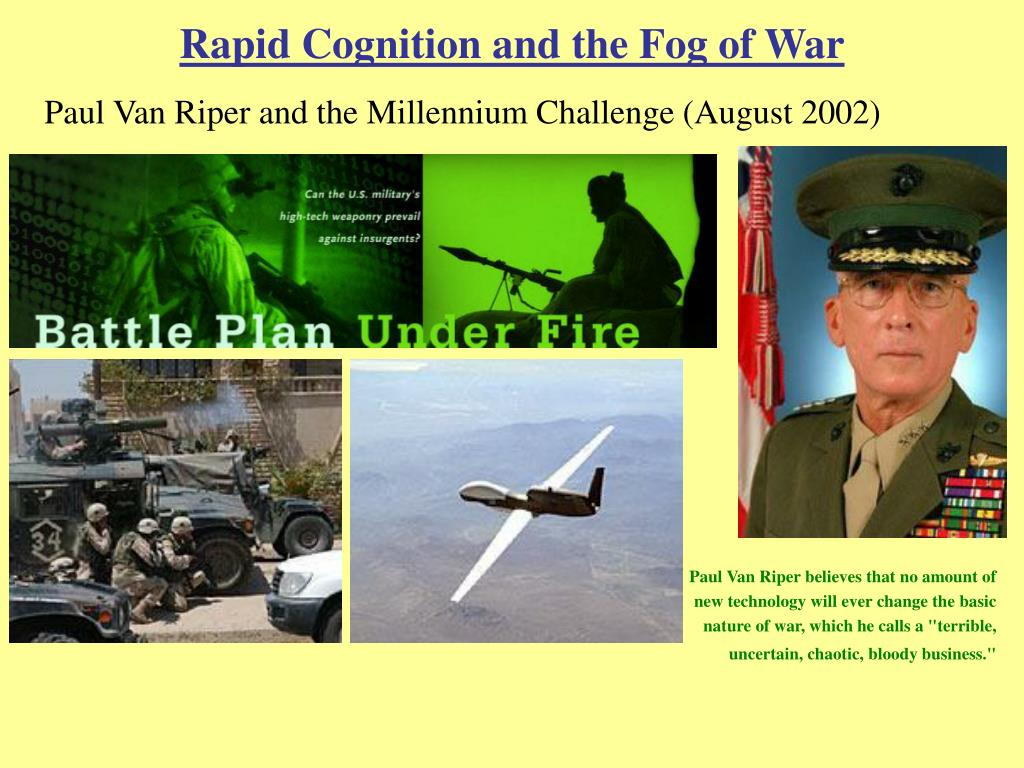 Rapid Cognition and the Fog of War