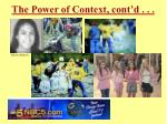 the power of context cont d10