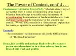 the power of context cont d16