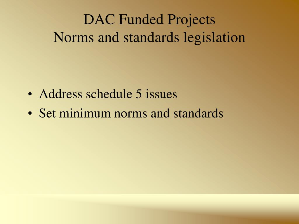 DAC Funded Projects