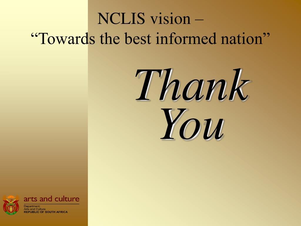 NCLIS vision –