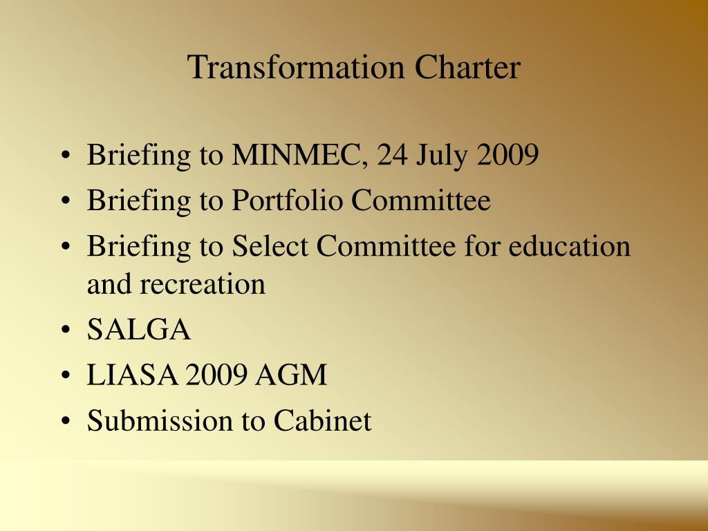 Transformation Charter