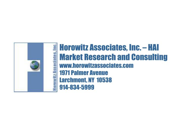 Horowitz Associates, Inc. – HAI