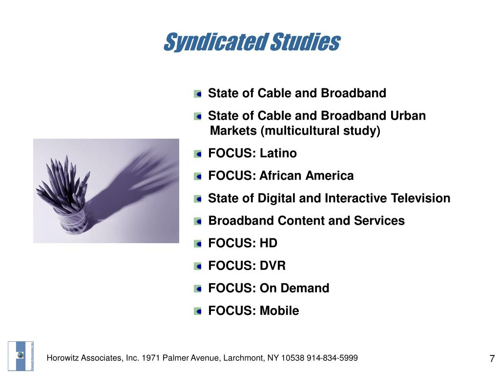 Syndicated Studies