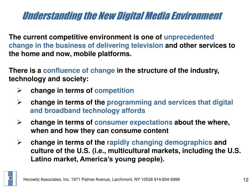 Understanding the New Digital Media Environment