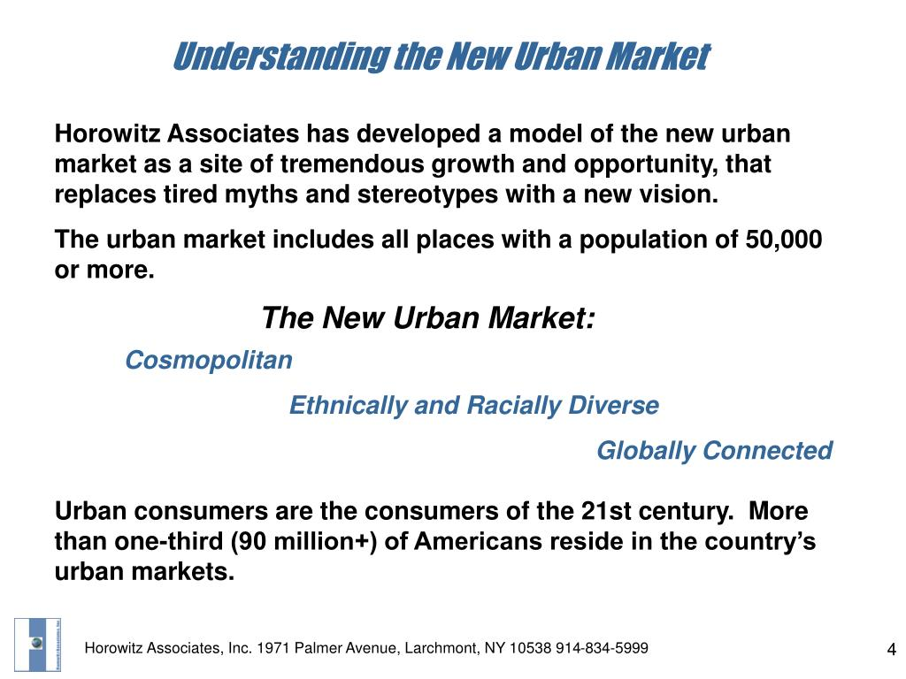 Understanding the New Urban Market