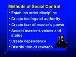methods of social control