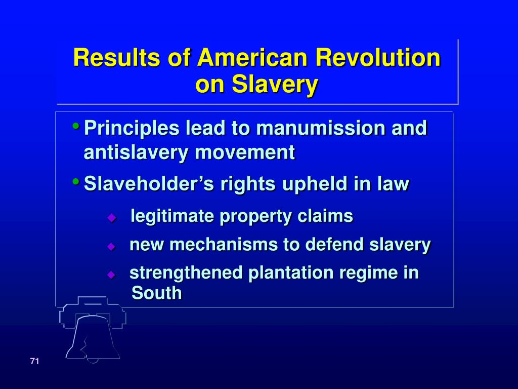 Results of American Revolution
