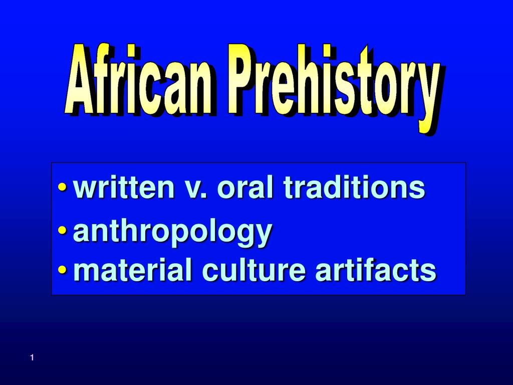 written v. oral traditions