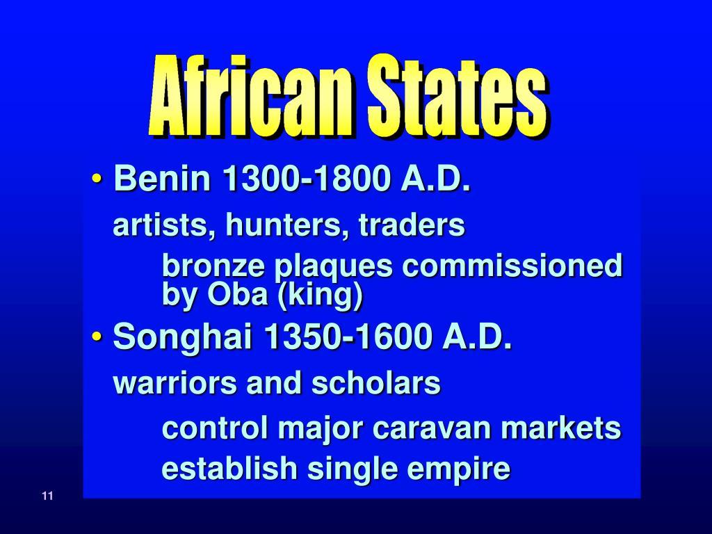 Benin 1300-1800 A.D.