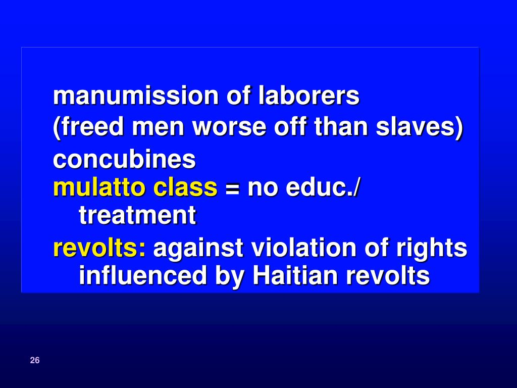 manumission of laborers