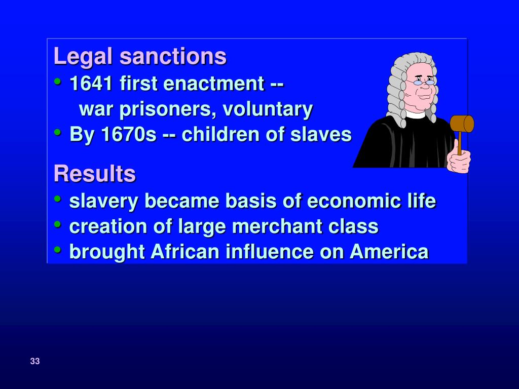 Legal sanctions