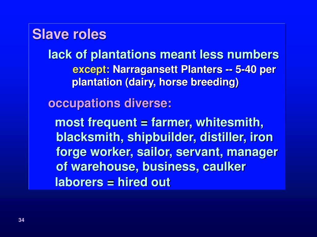 Slave roles