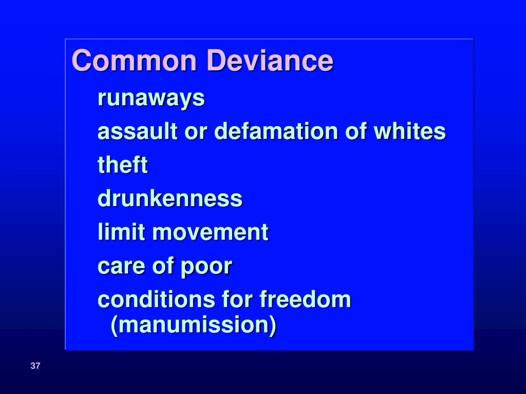 Common Deviance