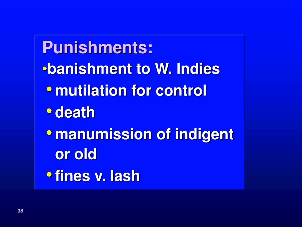 Punishments: