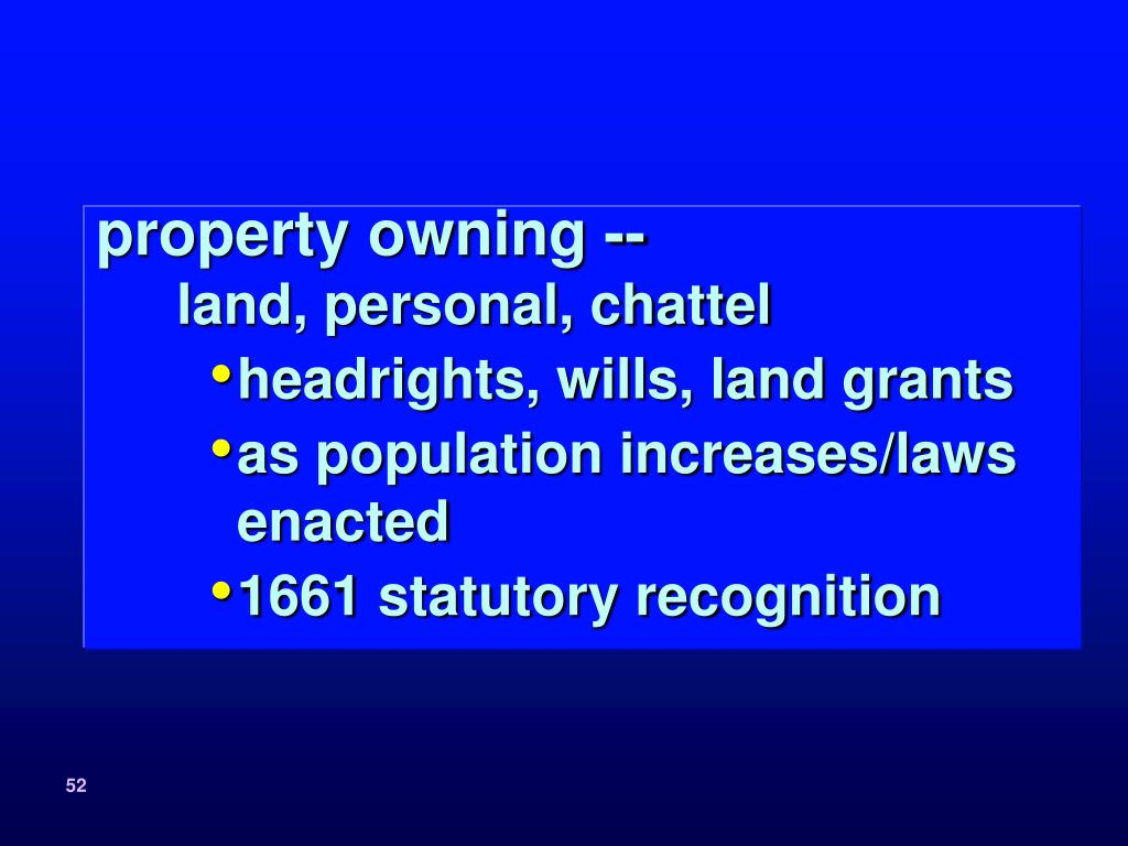 property owning --