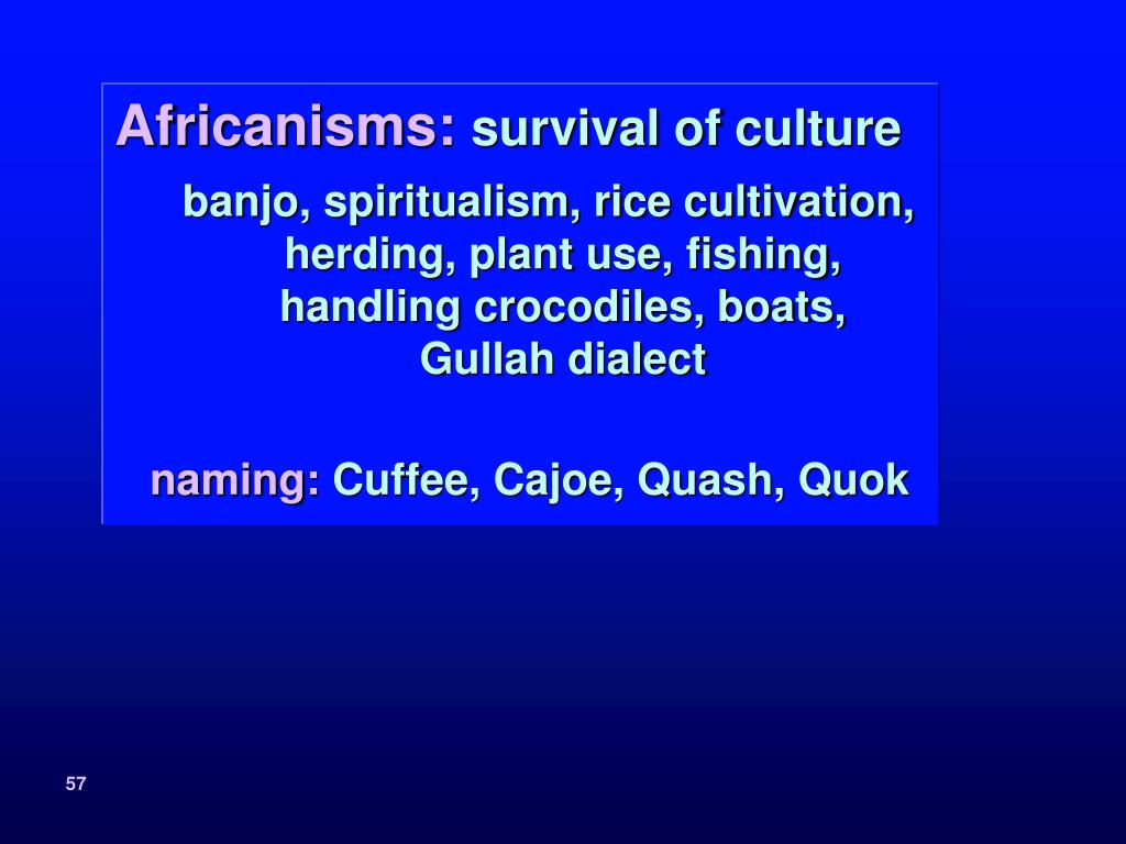 Africanisms: