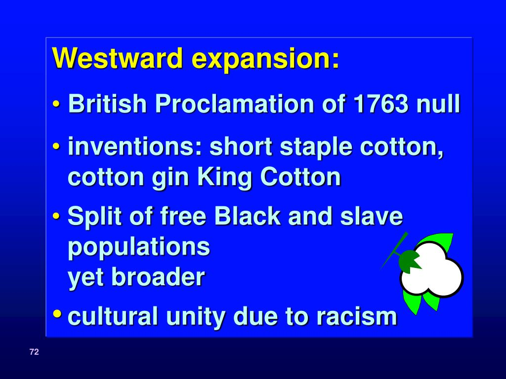 Westward expansion: