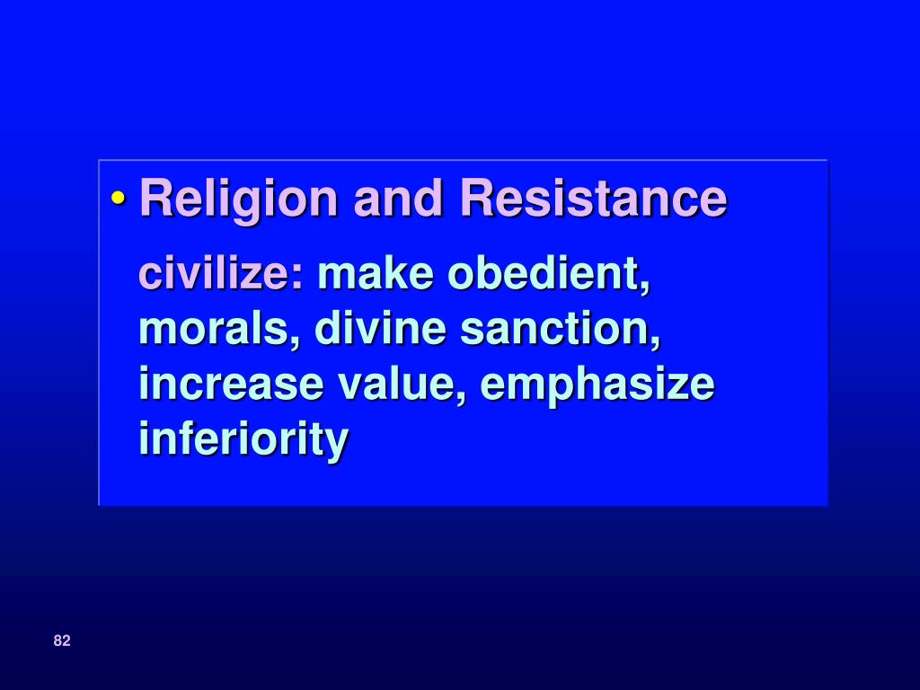 Religion and Resistance