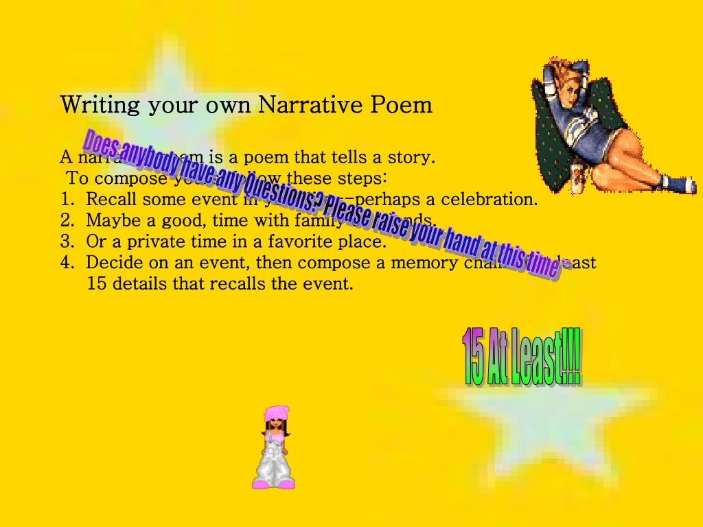 Writing your own Narrative Poem