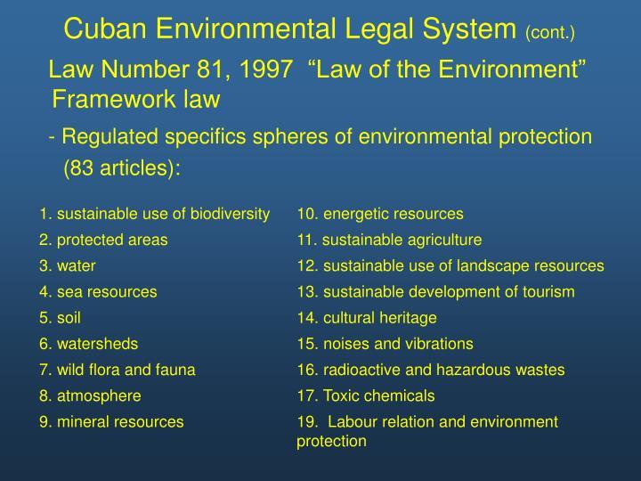 Cuban Environmental Legal