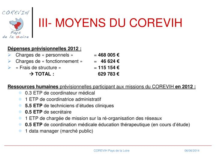 III- MOYENS DU COREVIH