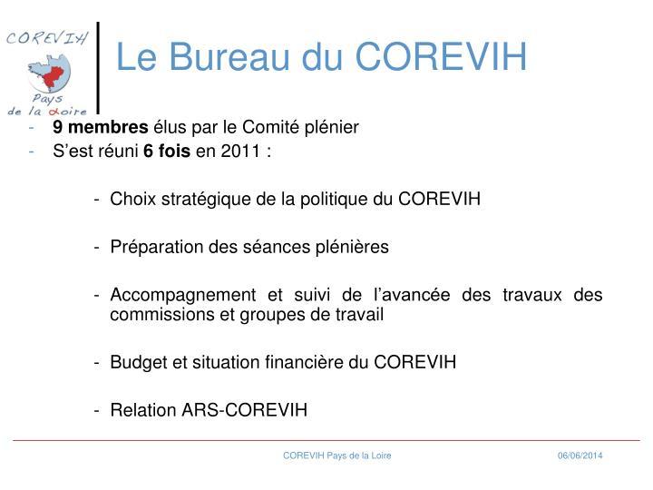 Le Bureau du COREVIH