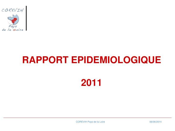 RAPPORT EPIDEMIOLOGIQUE