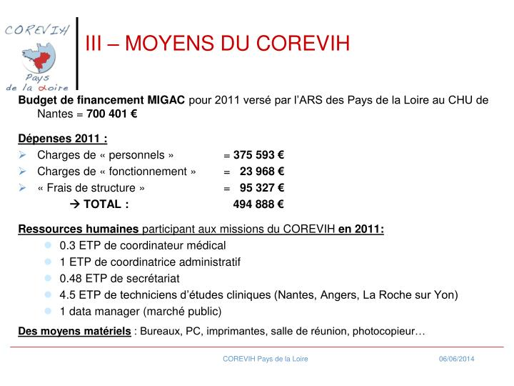III  MOYENS DU COREVIH