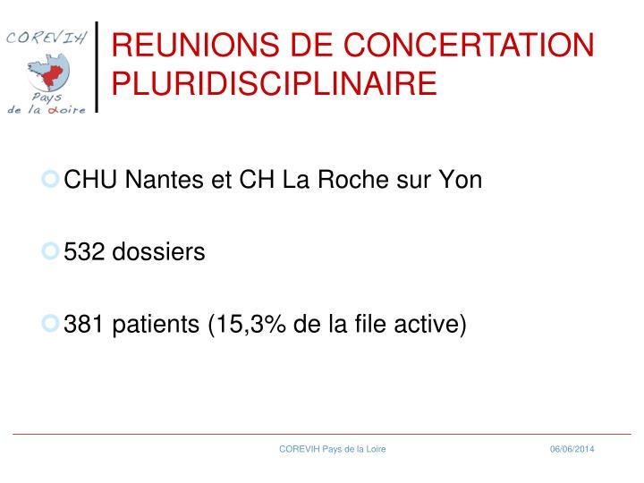 REUNIONS DE CONCERTATION PLURIDISCIPLINAIRE
