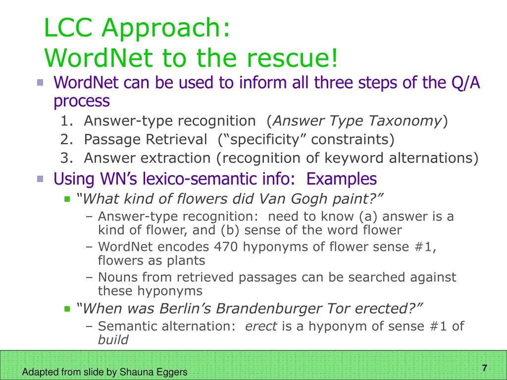 LCC Approach: