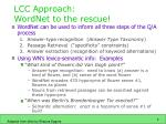 lcc approach wordnet to the rescue