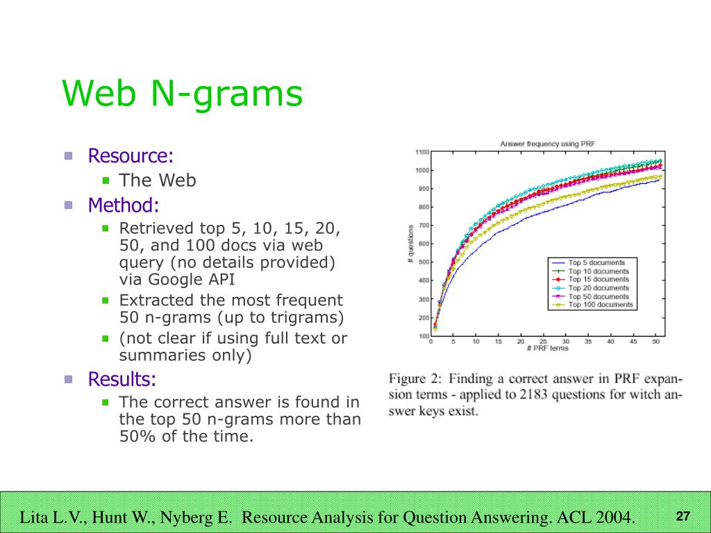 Web N-grams