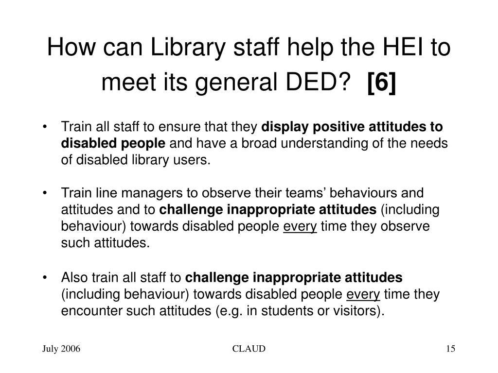 How can Library staff help the HEI to meet its general DED?