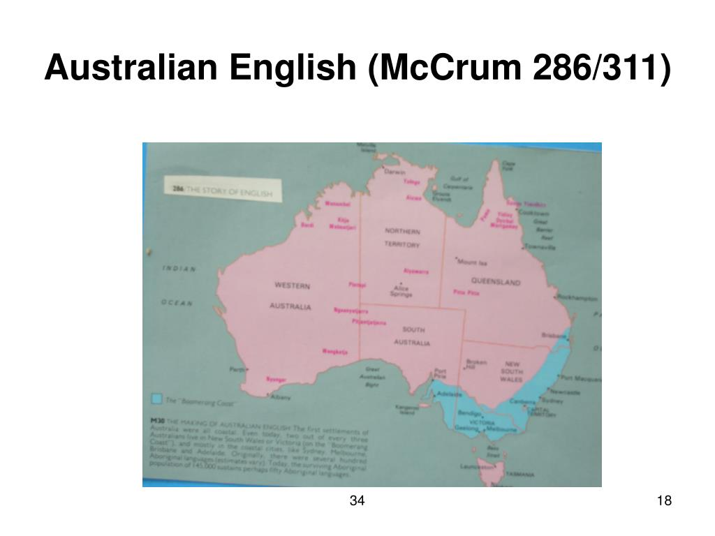 Australian English (McCrum 286/311)