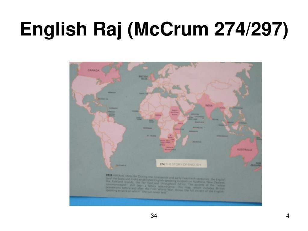 English Raj (McCrum 274/297)