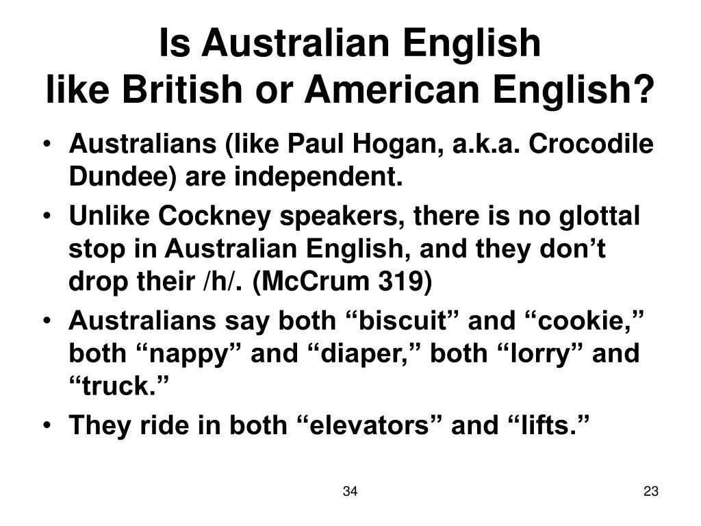 Is Australian English