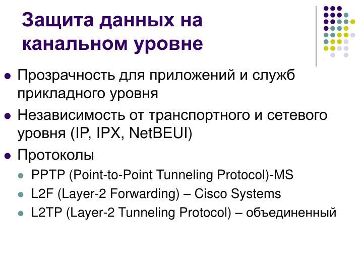 Защита данных на канальном уровне