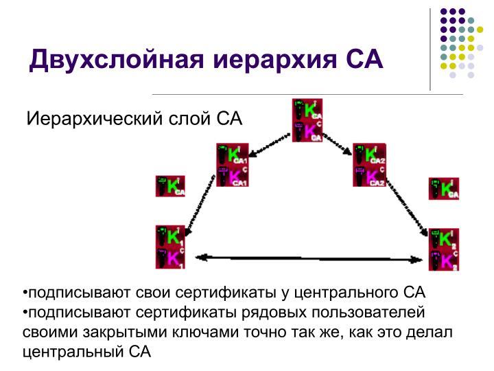 Двухслойная иерархия СА