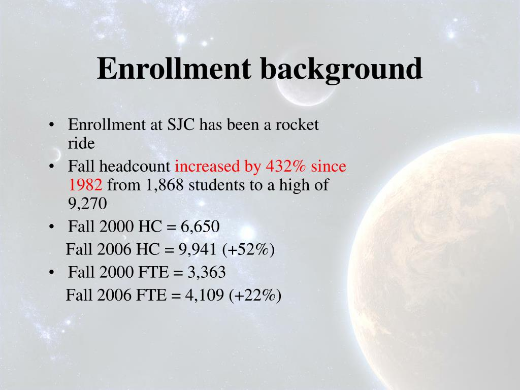 Enrollment background