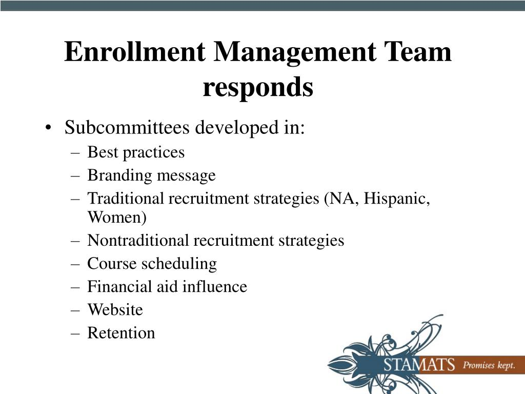 Enrollment Management Team responds
