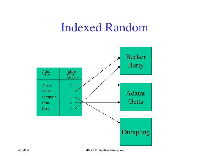 Indexed Random