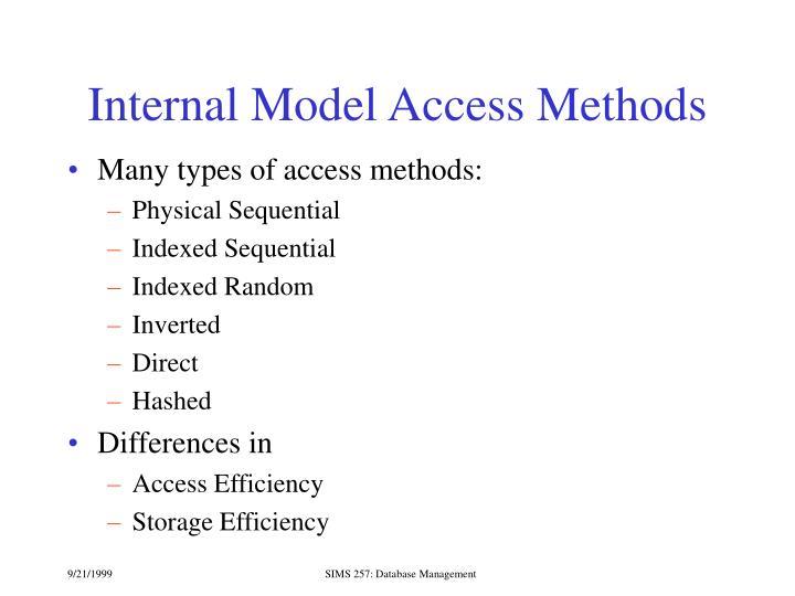 Internal Model Access Methods
