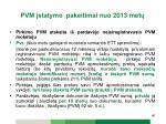 pvm statymo pakeitimai n uo 2013 met3