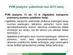 pvm statymo pakeitimai n uo 2013 met5