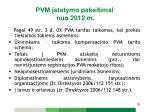 pvm statymo pakeitimai nuo 2012 m19
